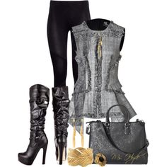 """Charcoal"" by mshyde77 on Polyvore"