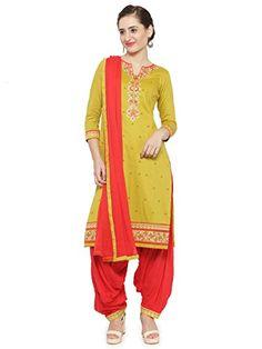 89ae05dd21a4 Kvsfab Women's Satin Unstitched Patiala Salwar Suit Mater... https://www