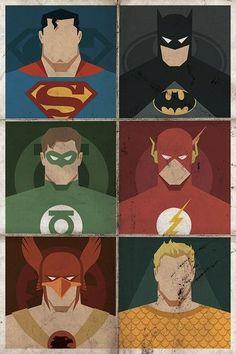 Minimalist DC Superhero Mughshot Poster.