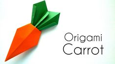 Origami Carrot Tutorial