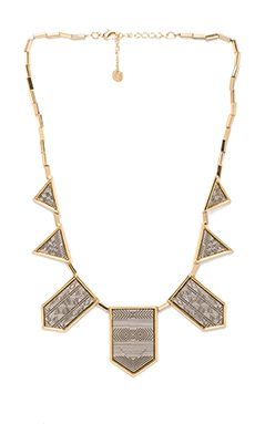 House of Harlow Engraved Classic Station Necklace in Gold Silver | REVOLVE