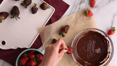 Here, the best method for melting chocolate. If you're wondering how to melt chocolate for chocolate-covered strawberries, chocolate-dipped cookies, and more, watch this video. Melt Chocolate For Dipping, Chocolate Dip Recipe, Chocolate Dipped Cookies, Cooking Chocolate, Melting Chocolate, How To Melt Chocolate, Chocolate Videos, Best Chocolate, No Cook Desserts