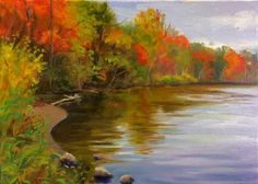 Color Along the River, painting by artist Takeyce Walter