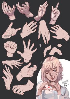 Hand Drawing Reference, Drawing Reference Poses, Drawing Tips, Hand Manga, Anime Drawings Sketches, Hand Drawings, Drawing Expressions, Drawing Base, Gesture Drawing