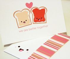 Better Together - PB and J Series - Stationary Set (printable)