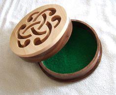 Celtic Knot  Jewelry Box  Trinket Box  Irish by BrowniesWoodcrafts