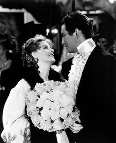 "Greta Garbo with Robert Taylor in ""Camille"""