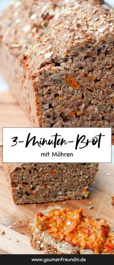 Gesundes Vielfaltbrot mit Dinkelvollkornmehl, Haferflocken und Möhren – Gaumenf… Healthy variety bread with spelled wholemeal flour, oatmeal and carrots – Easy Healthy Recipes, Healthy Desserts, Healthy Cooking, Easy Desserts, Baby Food Recipes, Bread Recipes, Easy Meals, Dessert Simple, Desserts Sains