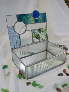 Geometric Stained Glass Box by RenaissanceGlass on Etsy
