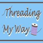Threading My Way ~ excited to be taking part in 'Sew Many Books' in August.