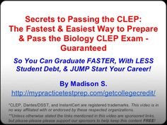 9 best clep test images on pinterest college life high school and rh pinterest com Biology Questions and Answers biology clep study guide free