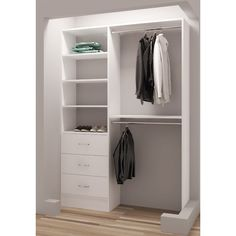 Transform your home into a clutter-free sanctuary with this space-saving Demure Walk-in Closet System. This keep your garments neatly stored and accessible with easy to keep your home tidy and welcoming. Strong, versatile and functional, these walk-in solutions are designed to suit your every need with style and convenience.