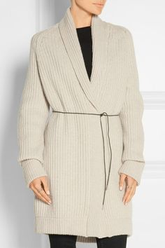 Temperley London Woman Belted Wool And Cashmere-blend Cardigan Beige Size L Temperley London Cheap Sale Visit New Cheap Footlocker Outlet Store For Sale Best Place Cheap Price Discounts ODGYx