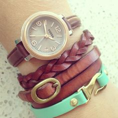 Fossil -- I love all of their watches and bracelets.