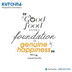What's your idea of happiness? #Kutchina #DesignedForConvenience #HappyKitchen
