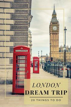 Add these 20 things to do in London to your next vacation itinerary ranging from shopping to best afternoon teas. Great family travel tips to get the most out of your world travel. Sightseeing London, London Travel, Big Ben, European Vacation, European Travel, Pays Europe, Europe Europe, Travel Europe, London Dreams