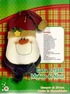 revistas de manualidades gratis Christmas Crafts, Christmas Ornaments, Crochet Hats, Holiday Decor, Cakes, Ideas, The World, Hand Spinning, Plushies