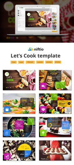 If you're passionate about cooking and want to share your amazing recipes with the world, start from this presentation template and impress your readers. Kitchen Photos, Amazing Recipes, Presentation Templates, Good Food, Lifestyle, Cooking, Kitchen, Kitchen Pictures, Healthy Food