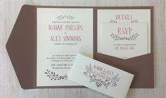 Woodland Wedding Invitation - Rustic, Autumn, Countryside