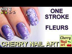 ONE STROKE nail art fleurs - YouTube