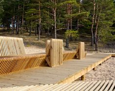 A map of the best contemporary landscape architecture projects from around the world. Urban Furniture, Street Furniture, Garden Furniture, Contemporary Landscape, Urban Landscape, Landscape Design, Landscape Architecture, Architecture Design, Wooden Decks