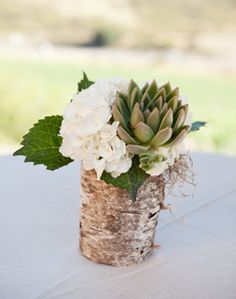 WeddingChannel Galleries: Rustic Reception Centerpieces