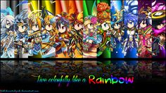 Brave Frontier Rainbow Units Wallpaper by fickleheartedgeek.deviantart.com on @deviantART