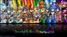 Brave Frontier Rainbow Units Wallpaper by fickleheartedgeek.deviantart.com on @deviantART