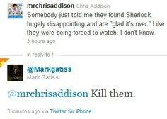 Hehehe. Mark Gatiss for the win!