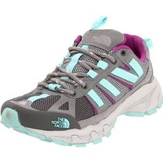 The North Face Women`s Ultra 50 Trail Running Shoe,Bonnie Blue/Magic Magenta