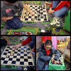 Just One of Those Days...The boys are playing chess today and it's keeping them quiet and working their brain!