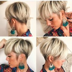 Likes, 4 Comments – Kurze Haare (Kurzhaarfri… Thin Hair Cuts, Short Hair Cuts For Women, Short Hairstyles For Women, Short Hair Styles, Cut Hairstyles, Sassy Haircuts, Short Blonde, Pixie Haircut, Great Hair
