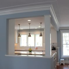 Elegant Half Wall Ideas Kitchen