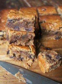 https://paleo-diet-menu.blogspot.com/ #paleodiet Almond Butter Blondies. Gluten free, dairy free and paleo.