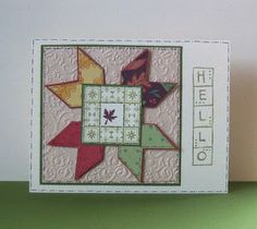 hand crafted card from Shoregirl's Creations: Fall Quilts