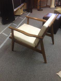 Mid Century Danish Modern Lounge Chair Original off white Cushions, Eames era