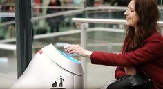 Baryl, arriva il robot cestino intelligente
