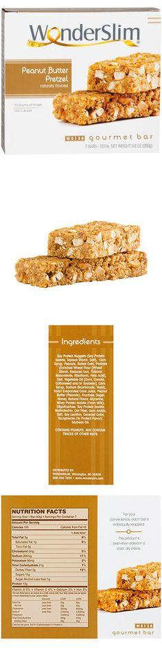 wonderslim gourmet high protein bar meal replacement bar low calorie diet bars 10g