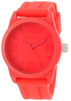 Kenneth Cole REACTION Women's RK2227 Street Round Analog Pink Dial Watch