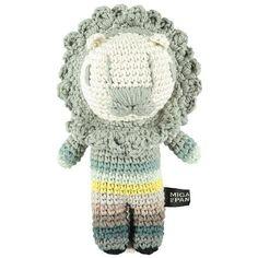 Miga de Pan, Crochet Toy, Medium Lion