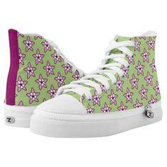 (Little Purple Columbines on Green by Aleta Printed Shoes) #Aleta #AletasDream #BackToSchool #Bright #Colorful #Columbine #Feminine #Floral #Flowers #Fun #Green #HighTops #Pink #Purple #SpontaneousCombustion #Teen #White #Wildflowers is available on Funny T-shirts Clothing Store   http://ift.tt/2dqPXBl