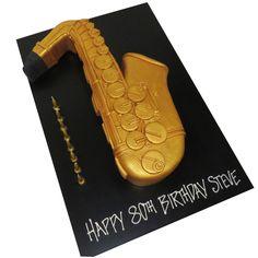 gold saxophone cake - That's My Cake