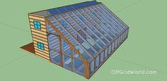 Seecontainer mit angebautem Gewächshaus
