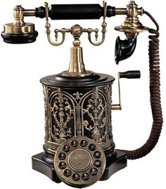 The Swedish Royal Family Replica Telephone and more replica vintage telephones by Design Toscano Link! --> http://amzn.to/11wUgem