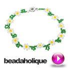 Tutorial - Videos: How to Make a Daisy Chain Bracelet | Beadaholique