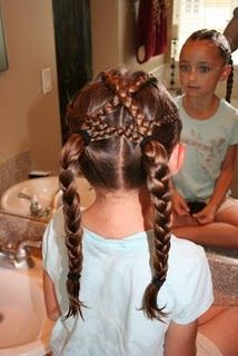Criss-Cross French Braids