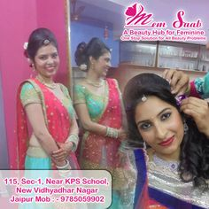 """Makeup is not a tool that meant to make an ugly thing beautiful. It is only meant to magnify the beauty that already exists"".  #memsaab #memsaabbeautysalon #bridalmakeup #hairtreatment #hairspa #partymakeup #makeup #makeupartist #smokyeyes #hairstyle #makeupartistjaipur #indianwedding #skincare"