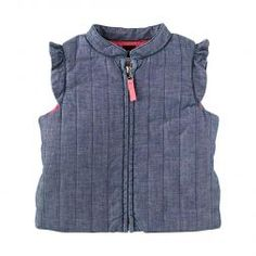 Clotilde Chambray Quilted Vest | Clotilde means heroine. This versatile vest looks great layered on top of any outfit, so she can adapt to any adventure.