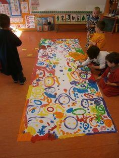 """LA CLASE DE MIREN: mis experiencias en el aula: TALLER DE GRAFISMO: """"SUPERCUADRO DE CÍRCULOS, BOLAS Y PUNTOS"""""""