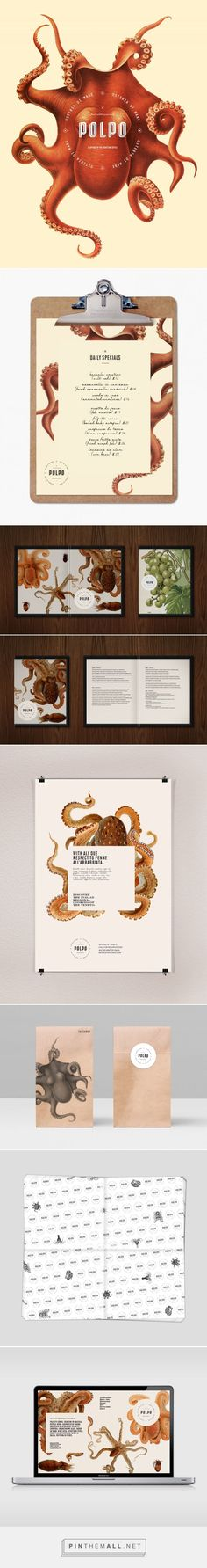 Polpo Restaurant Branding and Menu Design by Richard Marazzi | Fivestar Branding Agency – Design and Branding Agency & Inspiration Gallery - created via https://pinthemall.net